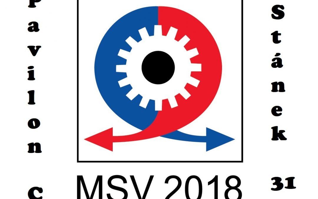 Navštivte náš stánek na veletrhu MSV 2018